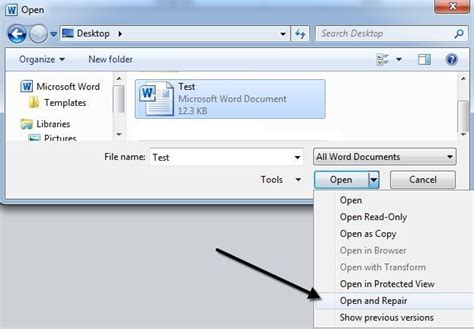Open Word Ultimate Guide To Repairing A Damaged Or Corrupt Word File