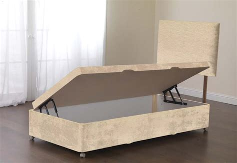 single side opening ottoman bed sweet dreams amber divan bed base 2ft6 small single side
