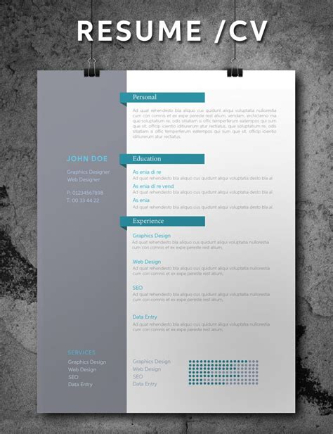 75 Best Free Resume Templates For 2018 Updated Indesign Template Ideas