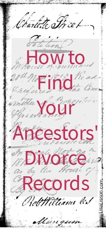 How Can I Find Divorce Records For Free 1000 Images About I Genealogy On Family Tree Chart Genealogy And