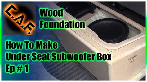 seat subwoofer box enclosure video  wood