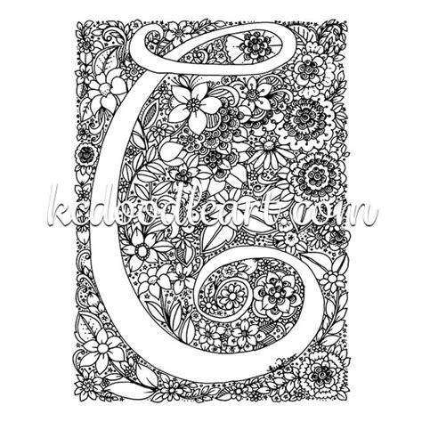 instant digital download letter h adult coloring page instant digital download adult coloring page letter c with