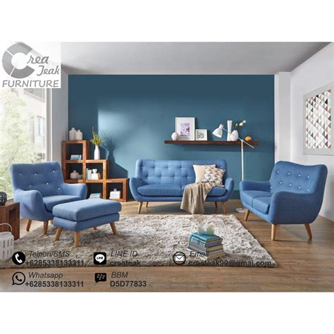 Set Sofa Bed Meja Kursi Tamu Sudut Minimalis Furniture Living Room set sofa ruang tamu retro minimalis selena createak