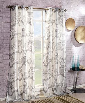 owl window curtains another great find on zulily duck river textile pewter