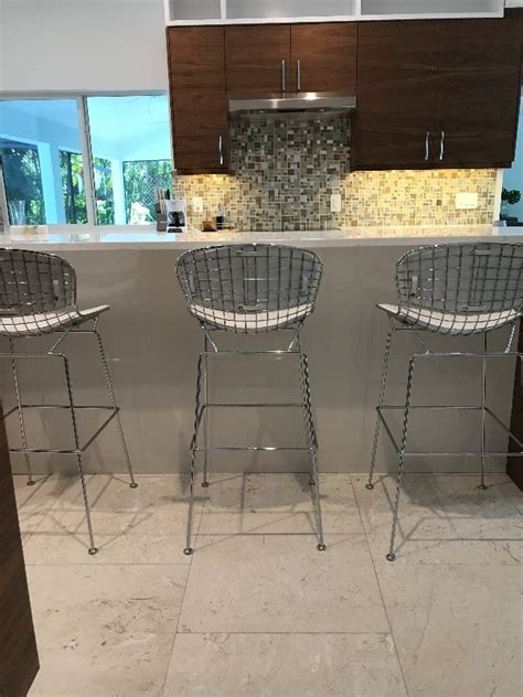 Bertoia Style Wire Bar Stool by Bertoia Style Morph Wire Bar Stool Poly Bark