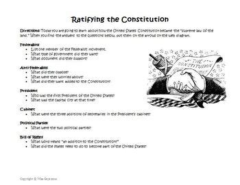 Ratifying The Constitution Worksheet Answers by Constitution Creation And Ratification Web Worksheet