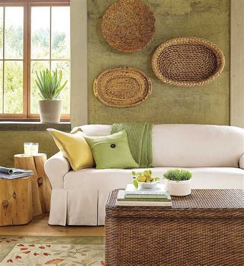 Home Wall Decoration Modern Wall Decoration With Ethnic Wicker Plates Home