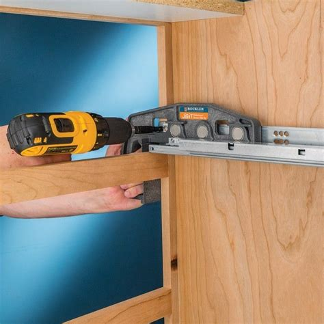 Drawer Slide Mounting Jig by Rockler Undermount Drawer Slide Jig Rockler Woodworking And Hardware