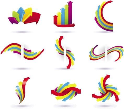 colored arrows background vector illustration free vector colored arrows vector free vector in adobe illustrator ai