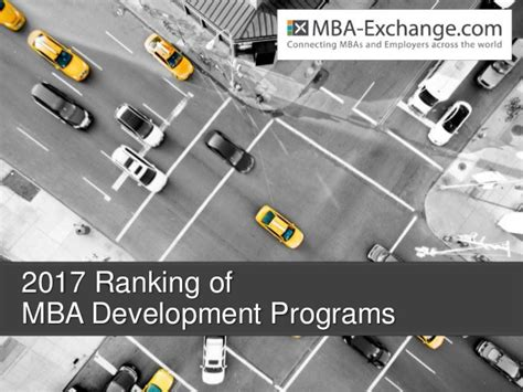 Arc Centers For Mba 2017 by 2017 Ranking Of Development Programs