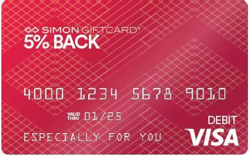 Simon Gift Card 5 - 5 back visa 174 simon giftcard 174