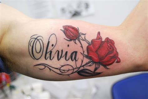 multiple name tattoo designs name designs with two roses tattoomagz