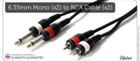 Kabel Audio Rca Ke Akai Mono 2 Meter Top 8 1 5 m 2 rca phono m 228 nnlich zu 2x 6 35mm 188 stecker kabel blei mono 6 3mm mixer ebay