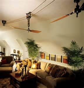 Pulley Driven Ceiling Fans Vintage Ceiling Fans Stir The Air Evoke Sense Of Drama