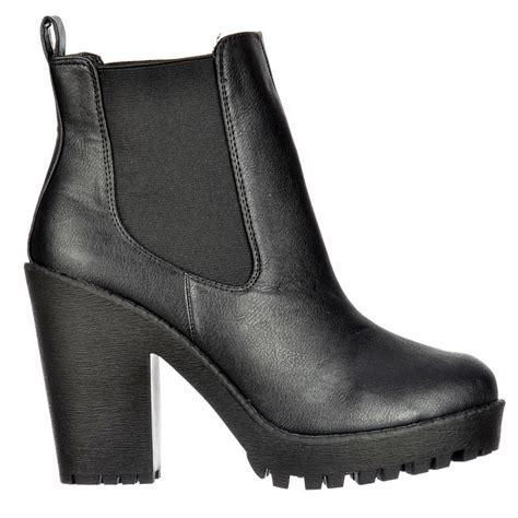 shoekandi rihanna chelsea boot with heel and elasticated