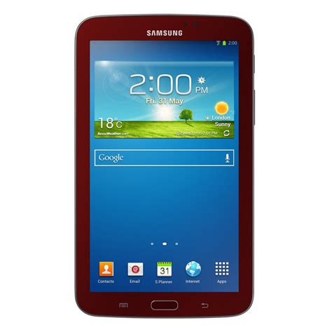 3 Samsung Tablet Samsung Galaxy Tab 3 Garnet Tablet Bundle 7 Inch 8 Gb 2013 Model Computers