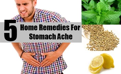 5 home remedies for stomach ache treatments and
