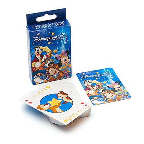 Disney Gift Cards Disneyland Paris - disneyland paris 25th anniversary playing cards