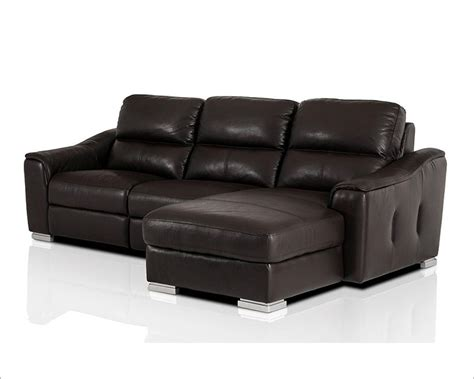 modern recliners leather modern leather recliner sectional sofa 44l5987