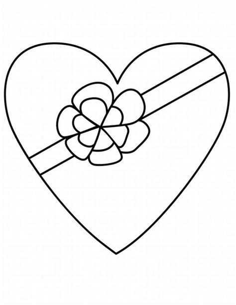 free coloring pages of heart blank
