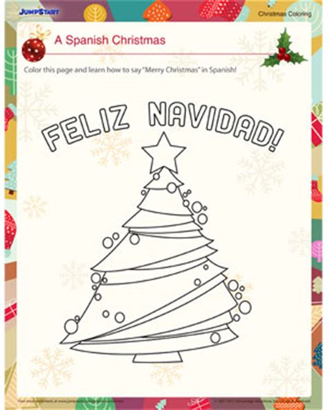 printable christmas coloring pages in spanish spanish christmas worksheets free printables spanish