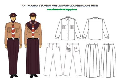 Celana Lapangan Pramuka Penegak pakaian seragam pramuka terbaru lukman nulhakim