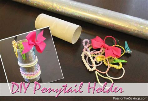 Toilet Paper Holder Crafts For - make a ponytail holder from an empty toilet paper