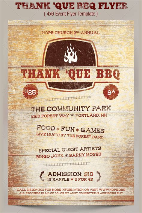 template bbq flyer 20 charity flyer templates printable psd ai vector