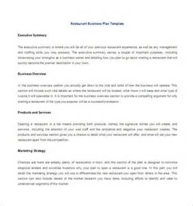 restaurants business plan