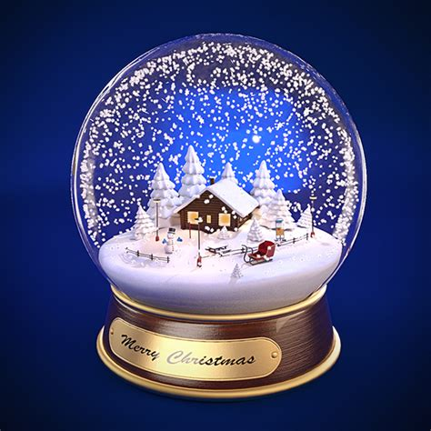 christmas snow globe on behance