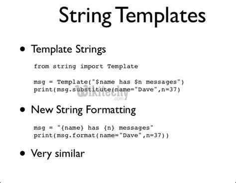 python string template python tutorial class template string template class