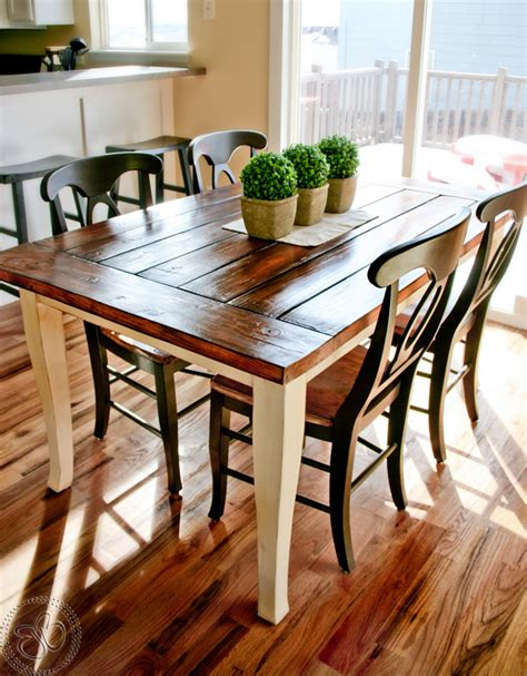 Little bits of bliss farmhouse table i seriously want a wood plank style table like this