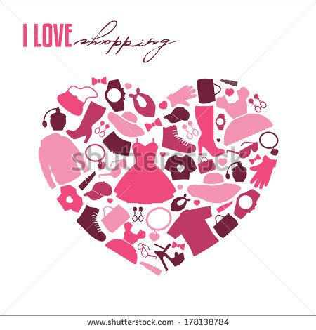 i love shopping icon and concept stock vector i love shopping stock images royalty free images