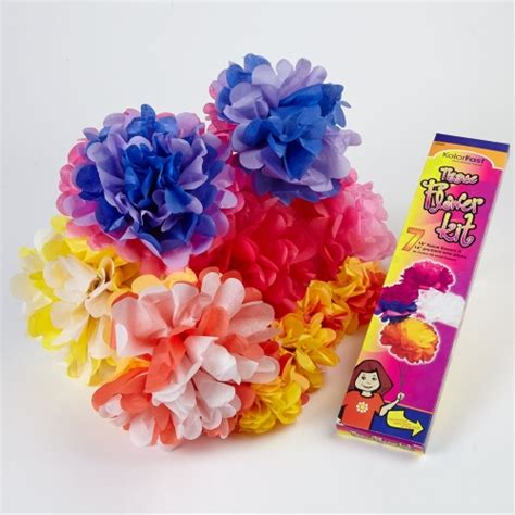 Paper Flower Kit - tissue paper flower kits assorted pack of 7