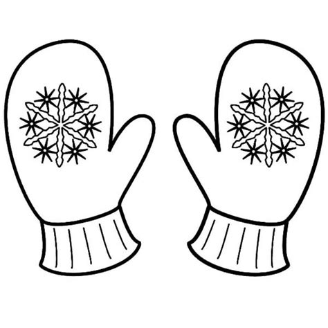 mitten coloring page free printable winter coloring pages