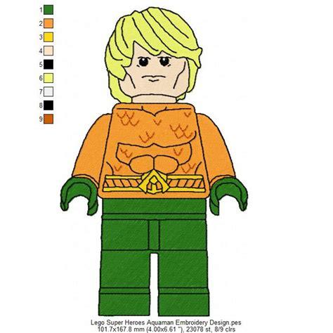 Lego Heroes Aquaman lego heroes aquaman embroidery design