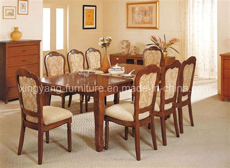Chinese Style Dining Room Decoration With Hand Crafted Hardwood Dining Room Furniture