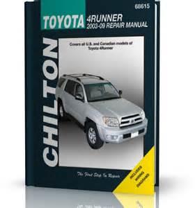 toyota 4runner 2003 2009 chilton repair manual