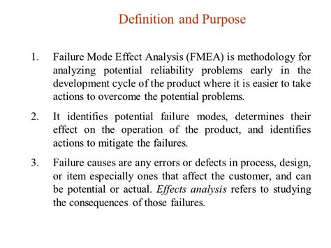 design failure definition failure mode and effects analysis fmea ppt video