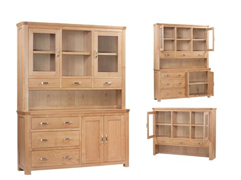 Large Kitchen Buffet Hutch Wilmslow Oak Large Buffet Hutch Furniture Brothers