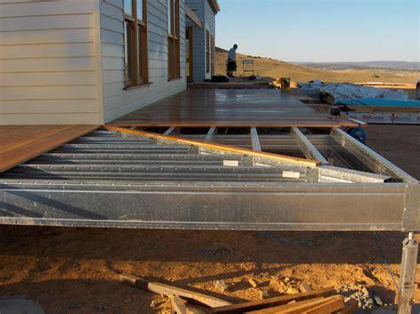 wraparound deck wrap around deck frame with mitred corner steel frame