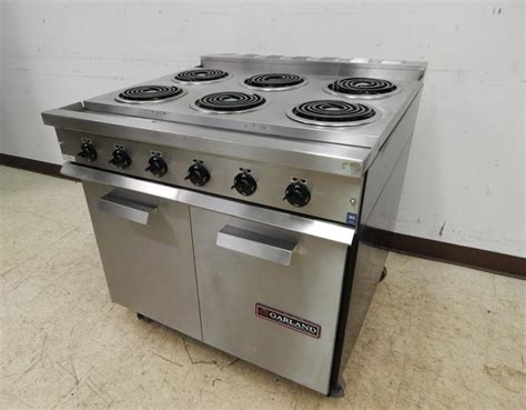 garland 36 quot 6 burner electric range cabinet base model