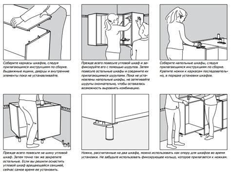 Инструкция по сборке углового шкафа фиеста