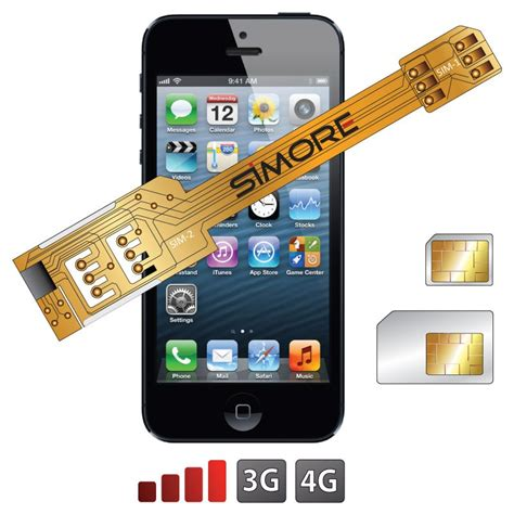 x 5 iphone 5 dual sim card adapter with protective simore