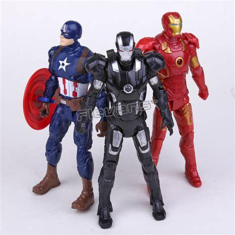 Ironman Figure Iron Patriot 1 civil war iron captain america iron patriot pvc figures toys 16cm 3pcs set