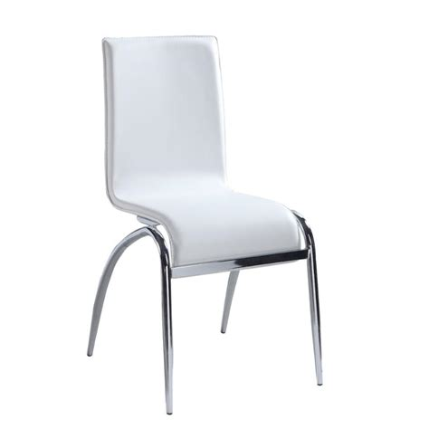 Elaine Furniture by Elaine Sc Wht Chintaly Imports Furniture Elaine Dinette Chair