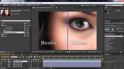 Paket Adobe After Effects Cc Tutorial adobe after effects cc tutorial setting scaling quality using bicubic or bilinear sling