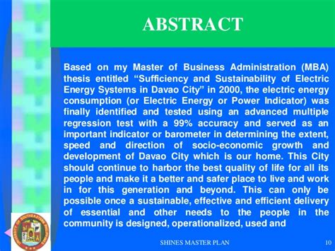 Mba Energy And Sustainability by Javellana Ipo 2012 Sustainable Electric Energy Systems In