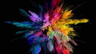 explosion of colors animation stock footage