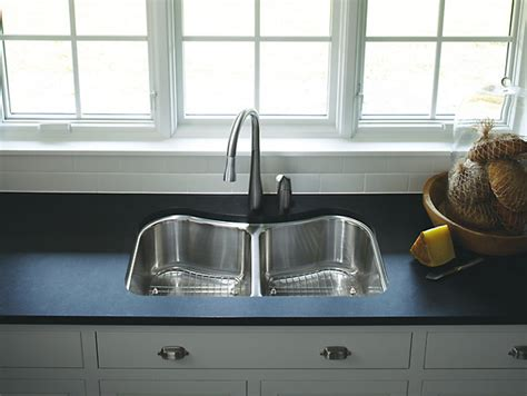 staccato under mount double bowl kitchen k 3899